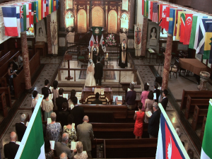 wedding at Wesley's Chapel in London